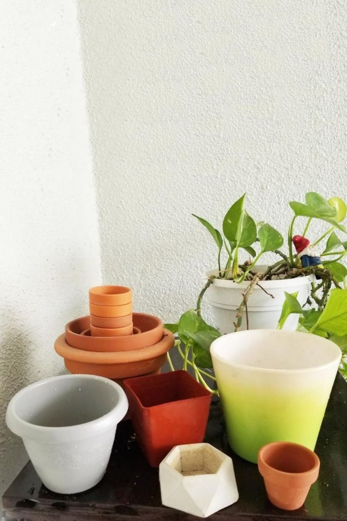 A variety of pots